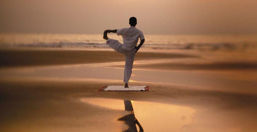Yoga at Private Beach